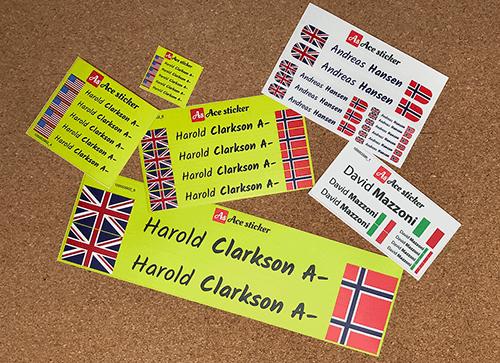 Tamaños stickers